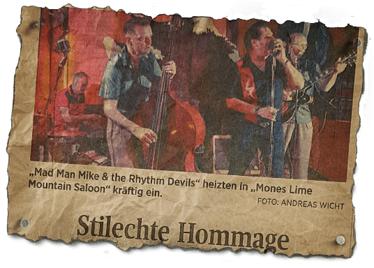 Hommage - MONES-Lime Mountain Saloon - Presseartikel
