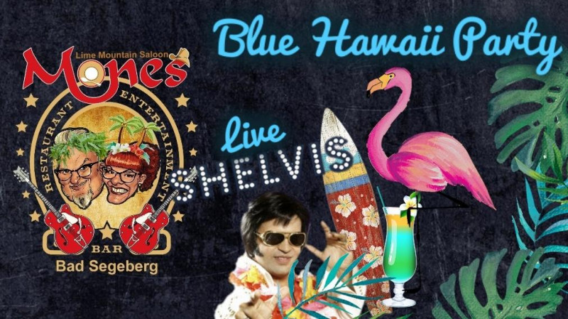 08.06.2019 um 19:00 Uhr Tanz Blue Hawaii Party mit SHELVIS