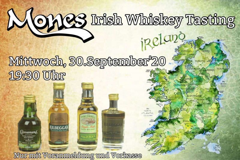 30.09.2020 um 19:30 Uhr Irish Whiskey Tasting