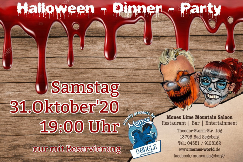 31.10.2020 um 19:00 Uhr 1.Halloween Diner Party
